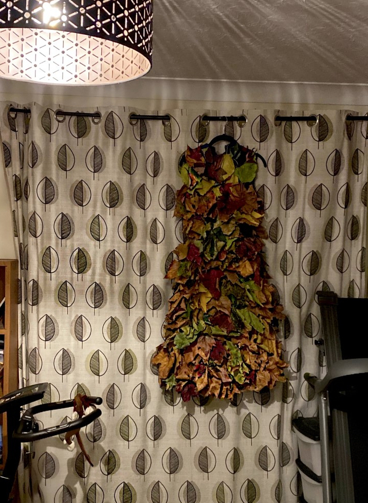 Creating an Autumn inspired leaf dress